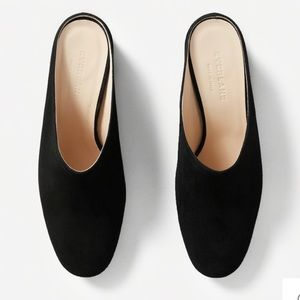 NWT Everlane The Day Heel Mule Suede Clog Black